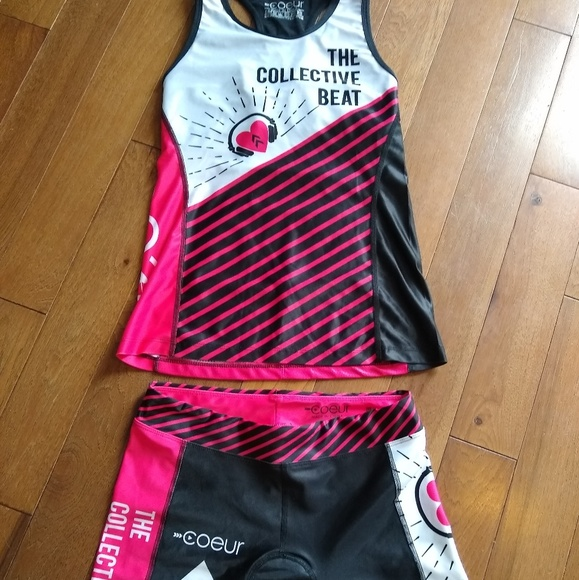 Triathlon kit: tri shorts and top